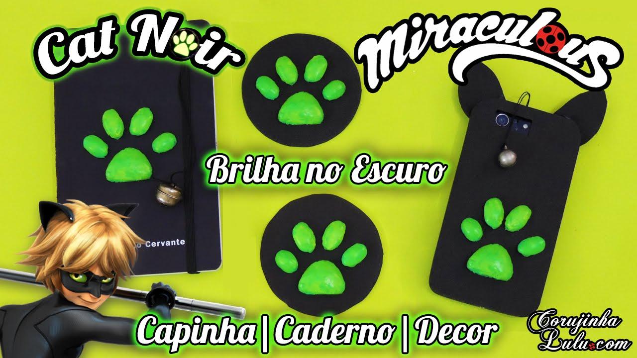 Diy Cat Noir Miraculous Ladybug Como Fazer Capinha De Celular