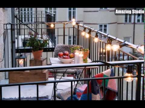 cozy balcony lighting ideas youtube