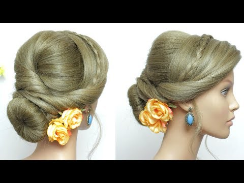 Romantic Low Bun Updo Hair Tutorial