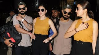 Virat Kohli- Anushka Sharma Snapped  Hand In Hand Together After Celebrating Birthday