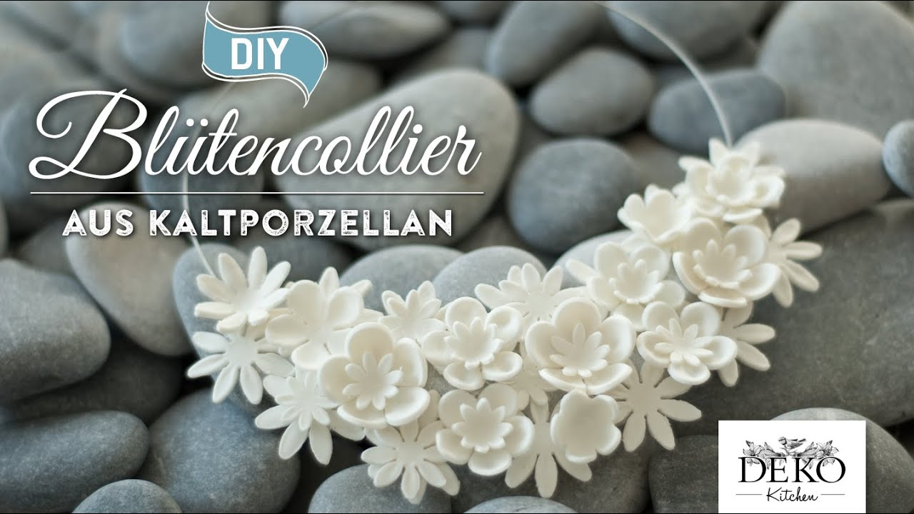 How To: Edle Statementkette Aus Kaltporzellan Selber Machen DIY | Deko  Kitchen   YouTube