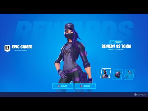 HOW TO UNLOCK NEW REMEDY VS TOXIN PURPLE STYLE! NEW FORTNITE PURPLE REMEDY STYLE! CHAPTER 2 OVERTIME