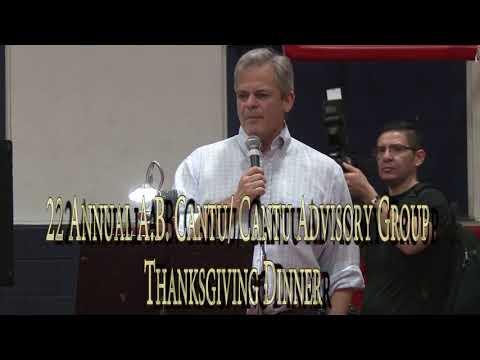 22 Annual A.B. Cantu/ Cantu Advisory Group -Thanksgiving Dinner-Mayor of Austin, Texas