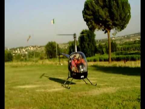 primo volo di addestramento R22 Pasquale fly roma