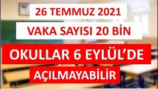SON DAKİKA: Okullar Açılmayabilir! Vaka Sayısı 20 Bin!