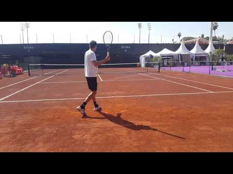 Pablo carreno busta practicing ATP Marrakech 250