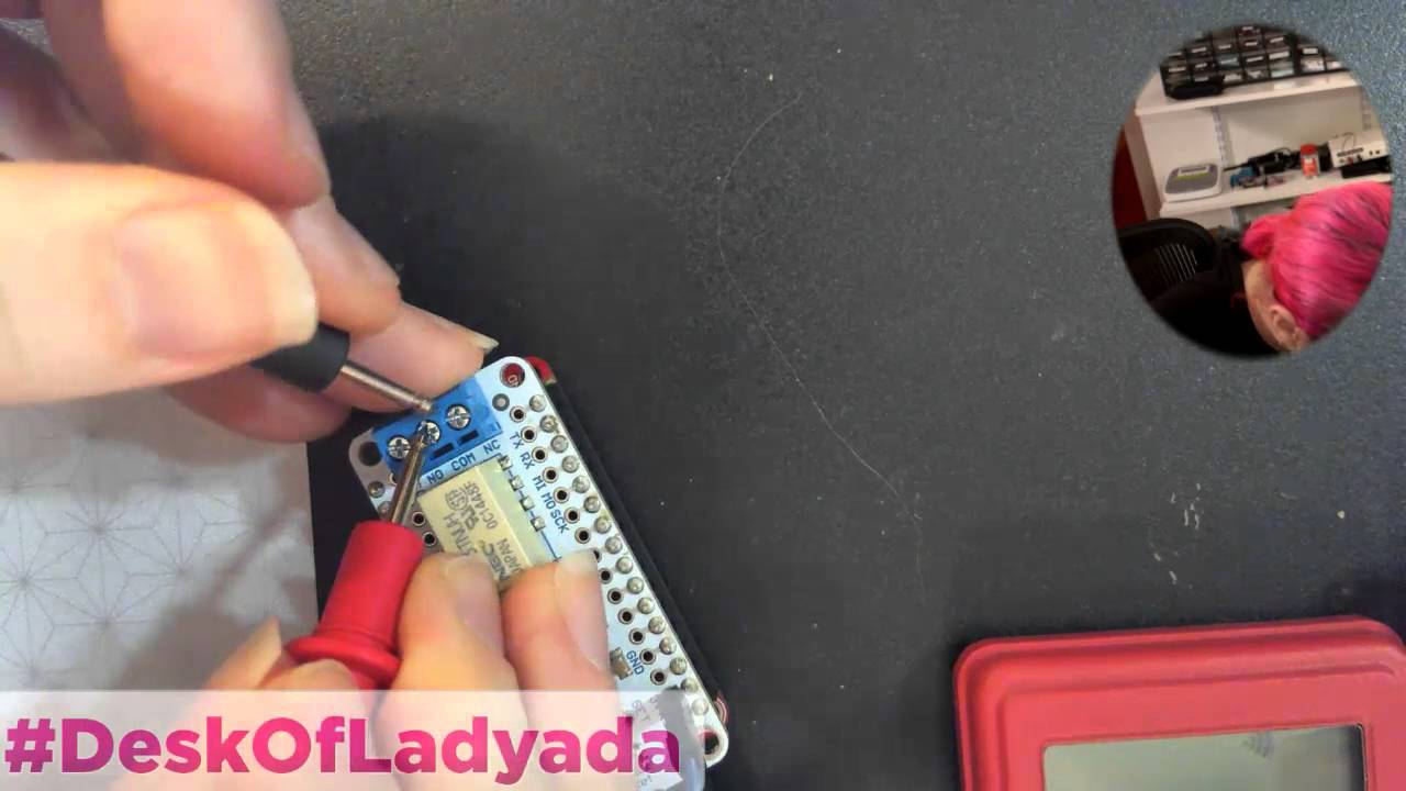 Testing out relay FEATHERWING and lessons learned #deskofladyada @adafruit  LIVE