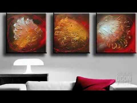 Studiougon contempo quadri moderni dipinti a mano youtube for Colori moderni