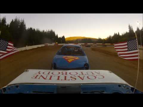 Coos Bay Speedway 7-7-18 Hornet main event rear view