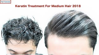 TOP KERATIN TREATMENT FOR MEDIUM HAIR★Mens Hairstyles★ CURLY TO STRAIGHT HAIR | NATURAL HAIR viral✔️