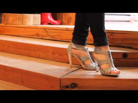 fa9bea88d88e Michael Kors - Berkley T-Strap in Silver Glitter - YouTube