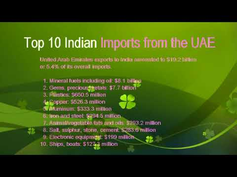 TOP 10 INDIA IMPORT FROM THE UAE