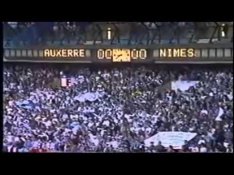 Nîmes Auxerre 04 mai 1996 Finale Coupe de France partie 1