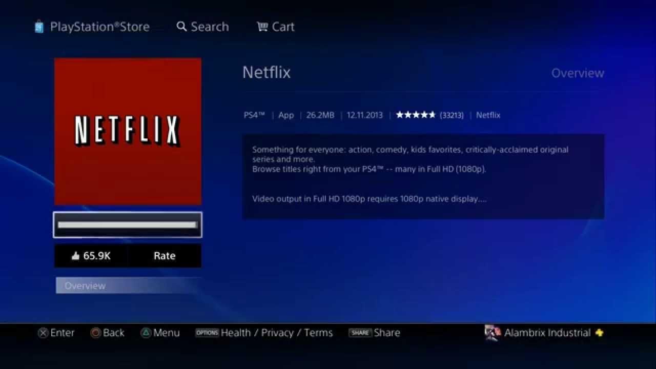 Netflix Ps4