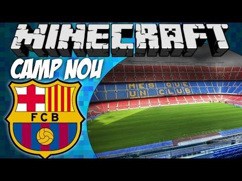 BARCELONA football stadium tour: Camp Nou (Minecraft) w/ commentary [HD]