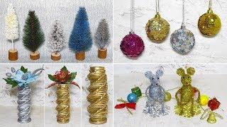 7 идей Новогодних поделок из разного материала своими руками.