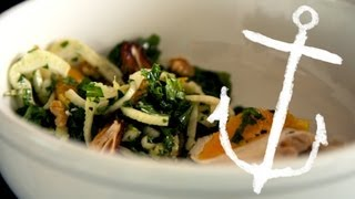 Spice Poached Chicken Breast with Raw Kale and Fennel Salad Recipe