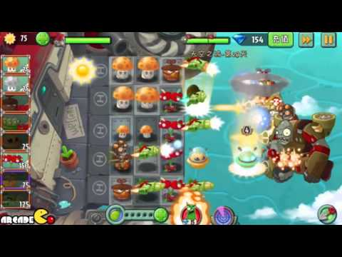 Plants Vs Zombies 2: Sky Castle World Mini Game Air Force Sky War! (PVZ 2 China) Part 7 HD