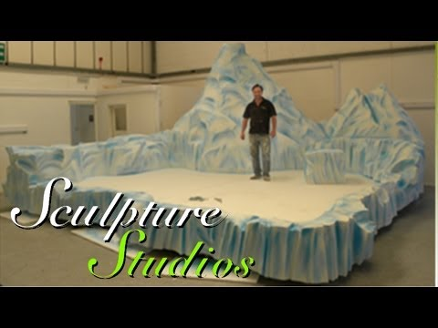 Polystyrene / Styrofoam Iceberg Stage by Sculpture Studios