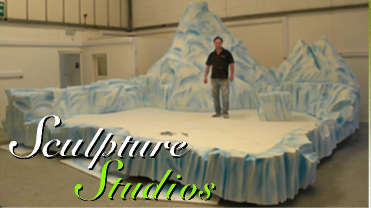 Polystyrene  Styrofoam Iceberg Stage by Sculpture Studios