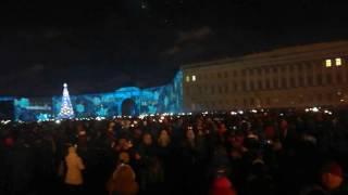 Питер, Новый год, Дворцовая площадь.