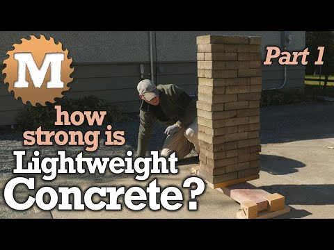 How Strong is Lightweight Concrete? - Deflection Test Perlite, Vermiculite, Lava Rock, CSA Panels