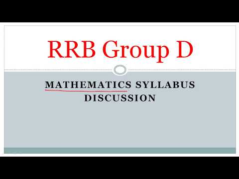 Railway Group D Mathematics Syllabus Full Discussion & Strategy (Bengali)