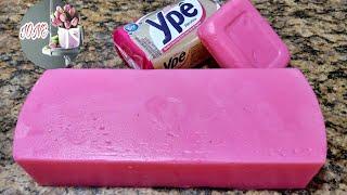 Faça Sabão Ypê em Barra Glicerinado Rosa – Sem Soda