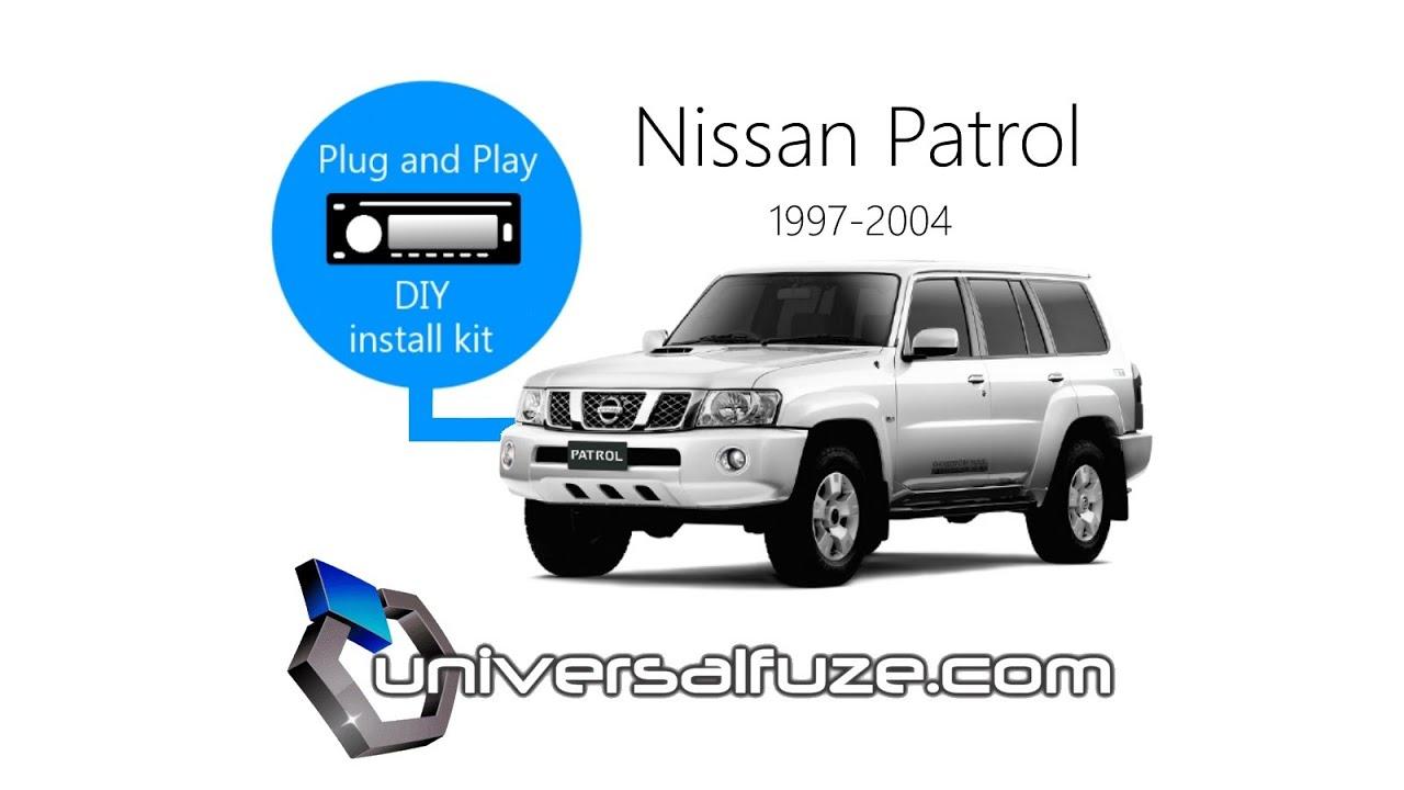 Nissan Patrol Y61 Radio Wiring Diagram 2001 Altima Belt Gu Car Stereo Installation Guide Youtube
