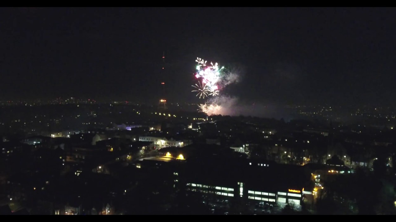crystal palace fireworks 2017 filmed in westow park drone