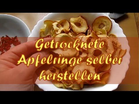 Getrocknete Apfelringe Herstellen - Obst Aus Dem Garten Haltbar Machen- Gesunde Rezepte