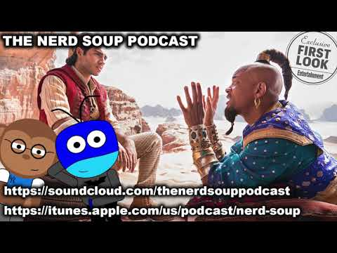First Look at Live Action Aladdin Movie  & Hellboy Official Trailer! - The Nerd Soup Podcast