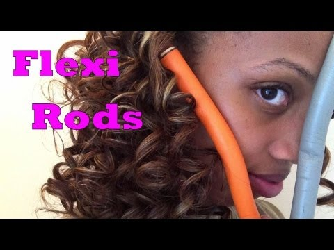 how to make flexi rod curls fall