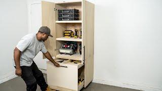 DIY Garage Cabinet - Storage & Organization   DIY Creators