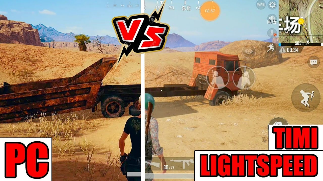 [PUBG MAP DESERT] PC VS LIGHTSPEED VS TIMI