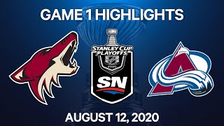 NHL Highlights   1st Round, Game 1: Coyotes vs. Avalanche - Aug. 12, 2020