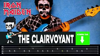 Iron Maiden - The Clairvoyant (Bass Cover by Cesar Dotti W/Tab)