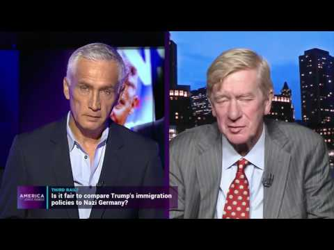 Jorge Ramos speaks with the libertarian presidential candidates Gary Johnson and William Weld
