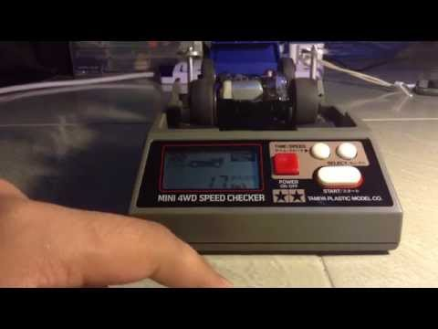 Tamiya Mini 4wd Speed Checker Test ( Ultra, Power, Sprint And Stock Motor )