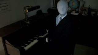 Slender Man playing the Piano! Slender Man sighting in my house! - by The Master Twins