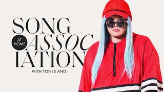 Tones And I Sings Rihanna, The Jackson 5, and Kelis in a Game of Song Association | ELLE