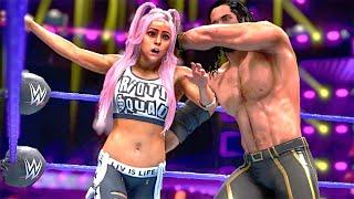 WWE 2k20: Liv Morgan Vs Seth Rollins, Intergender Wrestling Match