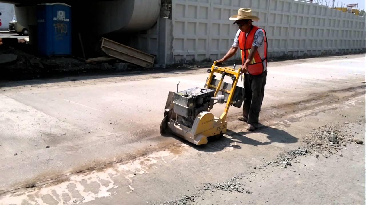 Maquina cortadora de concreto y asfalto cipsa youtube for Corte de pavimentos de hormigon