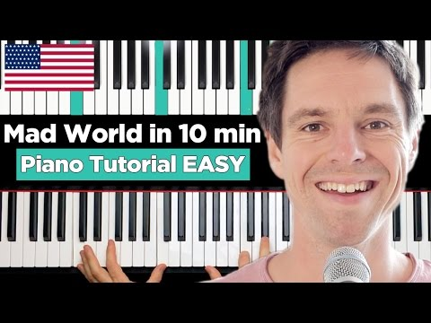 Mad World - Gary Jules - Piano Tutorial...