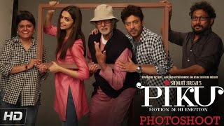 Piku - poster shoot | amitabh bachchan, deepika padukone, irrfan khan | in cinemas now
