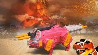 파워레인저 다이노포스 드릴케라 공룡 장난감 동영상 獣電戦隊キョウリュウジャー power ranger dino force