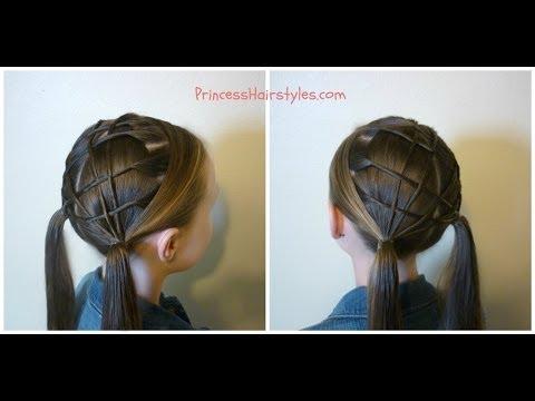 woven lattice pigtails princess