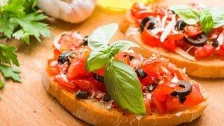 Как приготовить итальянскую брускетту с помидорами черри