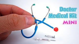 DIY Miniature Toy Medical Kit | DollHouse | No Polymer Clay!