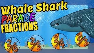 Whale Shark Teaching Simple Fractions Educational Math Video for Kids